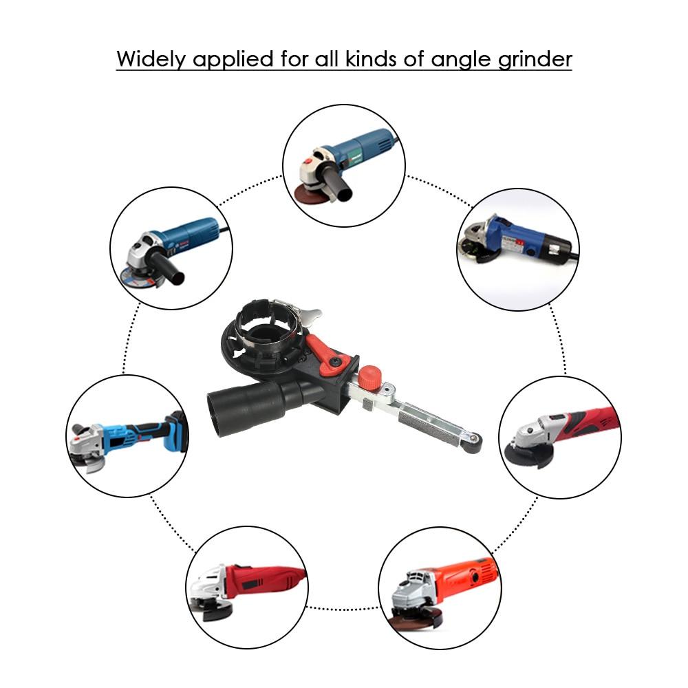 "Image 2 - Angle Grinder Mini DIY Sander Sanding Belt Adapter Grinding Machine Bandfile Belt Head Sander for 115mm 4.5"" and 125mm 5""-in Grinders from Tools"