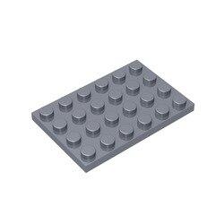 BuildMOC kompatybilny montuje cząstki 3032 4x6 dla części klocków LOGO DIY edukacyjne Tech części zabawki