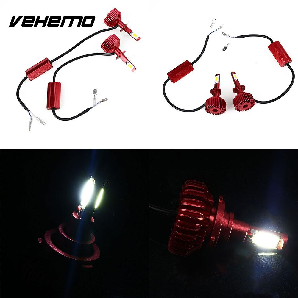 Vehemo 12W LED Car Automobile Parts HeadlampLight Bulb White Light Vehicles Fog Light