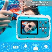 HD Mini 21M 32G LCD Cartoon Camera Kids Birthday Gifts Underwater Photo