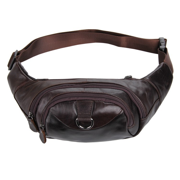 ФОТО J.M.D Factory Directly Genuine Leather Belt Bags For Men Waist Pouch Fanny Pack Purse 7211C