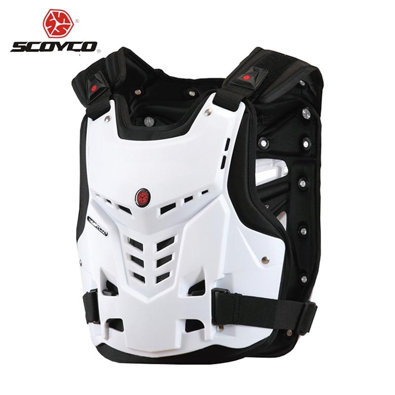 Accesorios Scoyco negro / blanco Motocross Motocicleta Armadura Cofre - Accesorios y repuestos para motocicletas