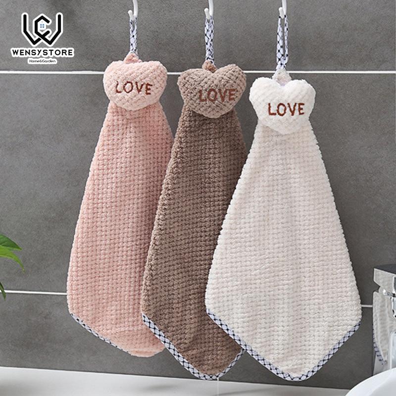 Wondrous Hangable Handkerchief Lovely Heart Towel Small Scarf For Home Interior And Landscaping Eliaenasavecom