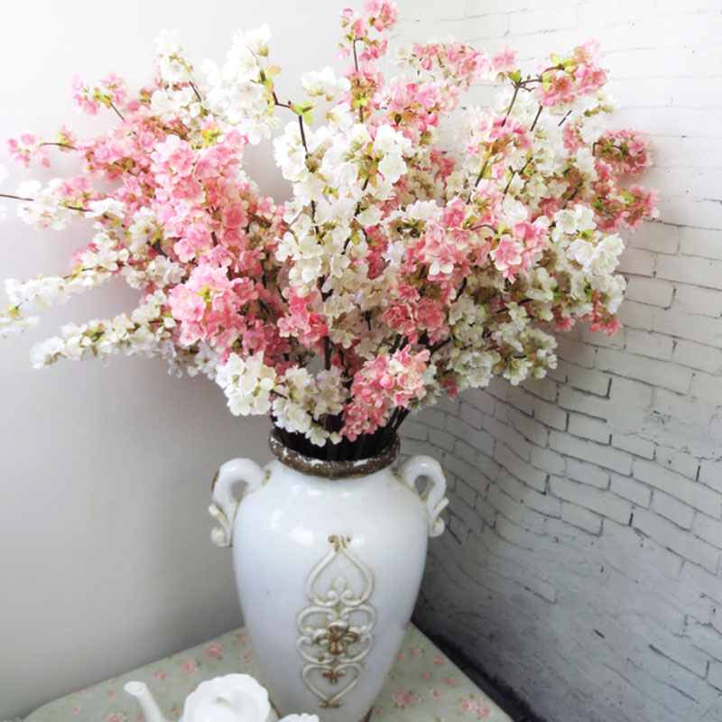 Hoge Kwaliteit Japanse Kersenbloesem Kunstzijde Bloem Home Hotel Mall Bruiloft Decoratie Bloemen Fotostudio Props Artificial Silk Flowers Silk Flowerswedding Decoration Flower Aliexpress