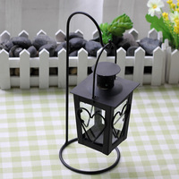 Romantic Heart Shaped Wrought Iron Candle Holders 1PC Zakka Retro Black White Classic Candlestick Wedding Home