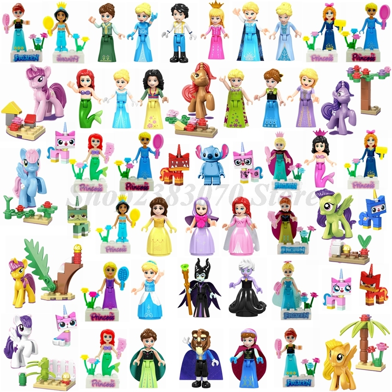 Toys Figures Building-Blocks Legoings Friend-Doll Mermaid Anna-Belle Movie Beautiful
