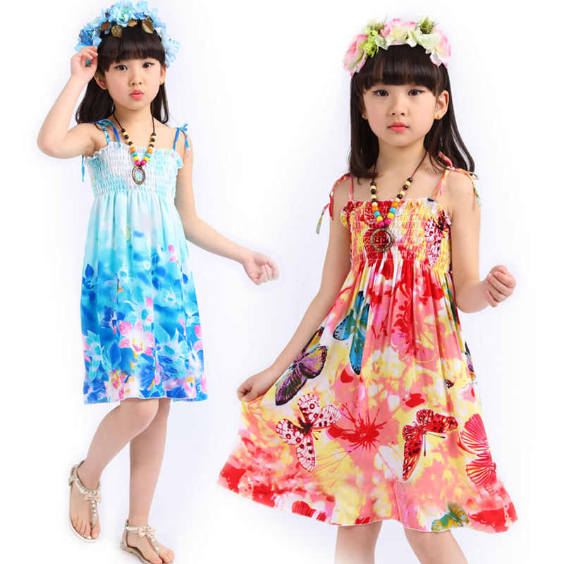 Ladies Summer season Mom Bady Child Youngsters Ladies Print Floral Household Matching Outfits Boho Seaside Sleeveless Cotton Strap Costume Matching Household Outfits, Low cost Matching Household Outfits, Ladies Summer...