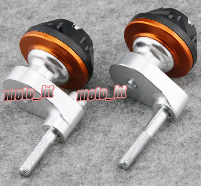 For Suzuki 2007 2008 GSXR1000 K7 Frame Sliders Crash Pads Protector Orange, CNC Aluminum цена 2016