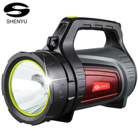 SHENYU 15w Super Bright Outdoor Handheld Portable USB Rechargeable Flashlight Torch Searchlight Multi function Long Shots Lamp