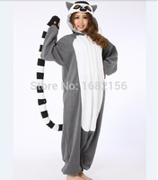 Adult Animal Onesie Lemur Long Tail Monkey Unisex Women Men S Pajamas Halloween Christmas Party Costumes