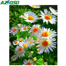 AZQSD Diamond Painting Flower Landscape Rhinestones Pictures Mosaic Full Display Home Decor Embroidery Sale
