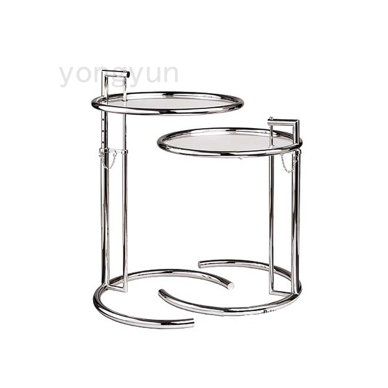 Eileen Gray Side Table With Tempered Glass Top End Table Glass Side Table Living Room Furniture