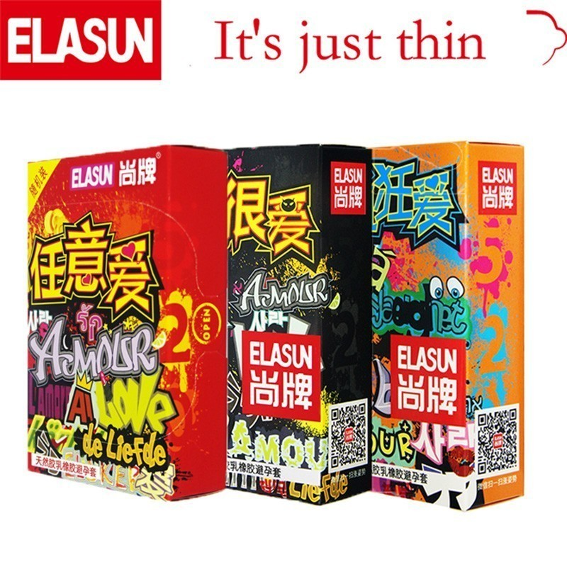 ELASUN 32 PCS Ultra Thin Crazy Love Women Pleasure Condoms Natural Transparent Latex Rubber Condom Sex Products For Men