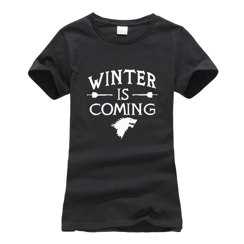 Game of thrones winter coming tshirt for lady fashion bodybuilding Women T-Shirt brand harajuku tee shirt femme 2019 summer tops