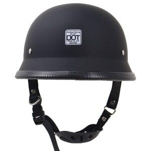 Image 2 - 도트 반 얼굴 레트로 오토바이 헬멧 레트로 헬멧 헬멧 방수 헬멧