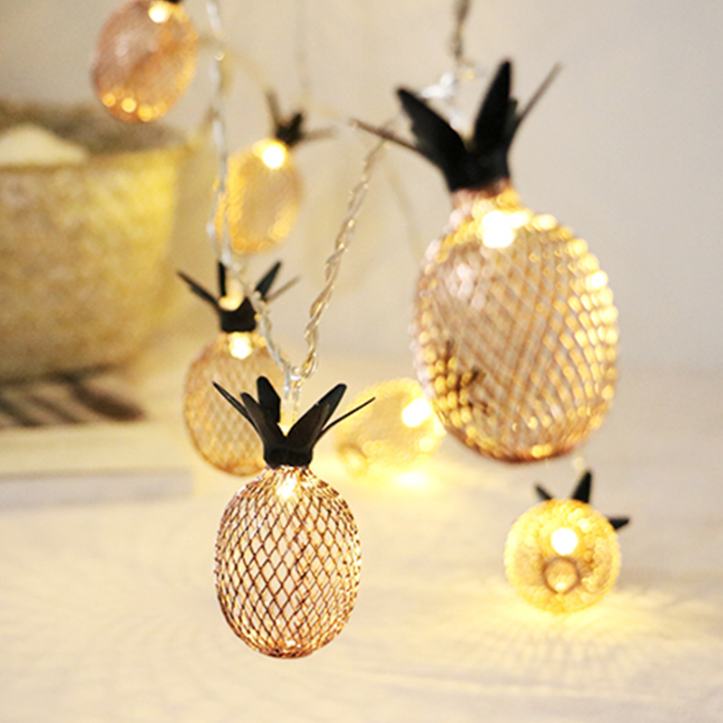 Christmas Pineapple.Us 5 34 38 Off 3m Pineapple Christmas Led Light String Fairy Garland Wire Light Warm White Powered By Battery For Home Wedding Party Decoration In