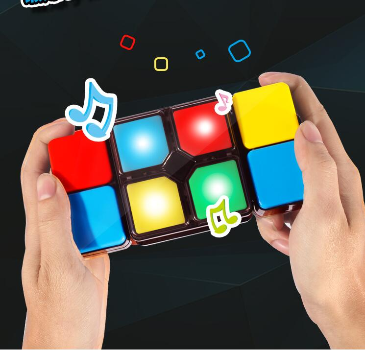 Flashing Music Cube Changeable Intelligent Puzzle Cube with Electronic Music Colorful light Game Cube