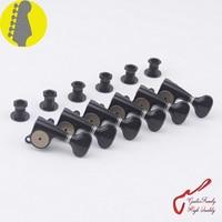 1 Set Original Genuine 6 In line GOTOH SGS510Z S5 HAPM Locking Height Adjust Guitar Machine Heads Tuners (Black) MADE IN JAPAN
