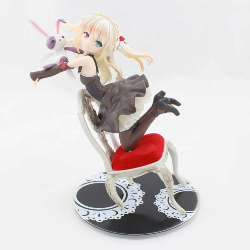 ФОТО Free Shipping Anime Boku wa Tomodachi ga Sukunai Hasegawa Kobato Chair 1/8 PVC Action Figures Toy 17CM