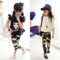 Girl Baby Kid Camouflage Casual Pants Child Stretch Slim Legging Trousers