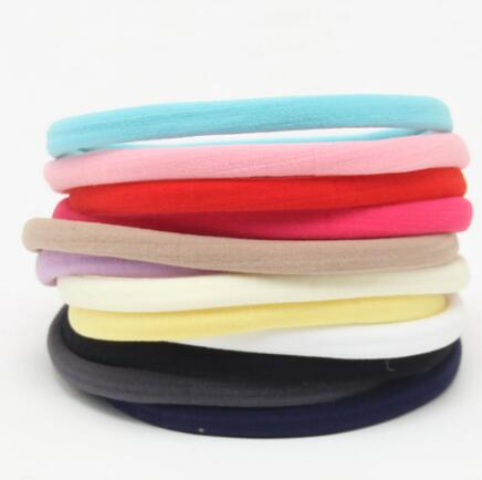 10pcs/lot Baby Girl Boy Spandex Nylon Headband for Children Skinny Very Stretchy Non-Marking   Headwear   Nylon Elastic Head band