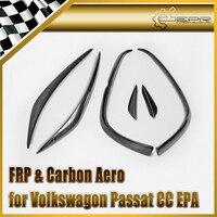 Car styling 2009 2012 Passat CC EPA Carbon Fiber Front Bumper Canard Glossy Fibre Exterior Trim Racing Auto Body Kit Accessories