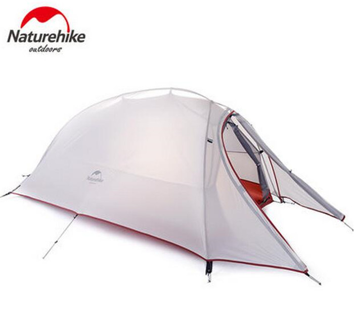 NatureHike Ultralight Waterproof Outdoor 4 Season 2 Person Tent 210T 20D Plaid Fabric Tents Double-layer Camping Tent naturehike 3 person camping tent 20d 210t fabric waterproof double layer one bedroom 3 season aluminum rod outdoor camp tent