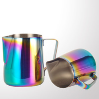 Milk Frothing Jug Espresso Coffee Pitcher Cup 350/600ml Cappuccino Latte Pull Flower Cup Barista Tools Stainless Steel