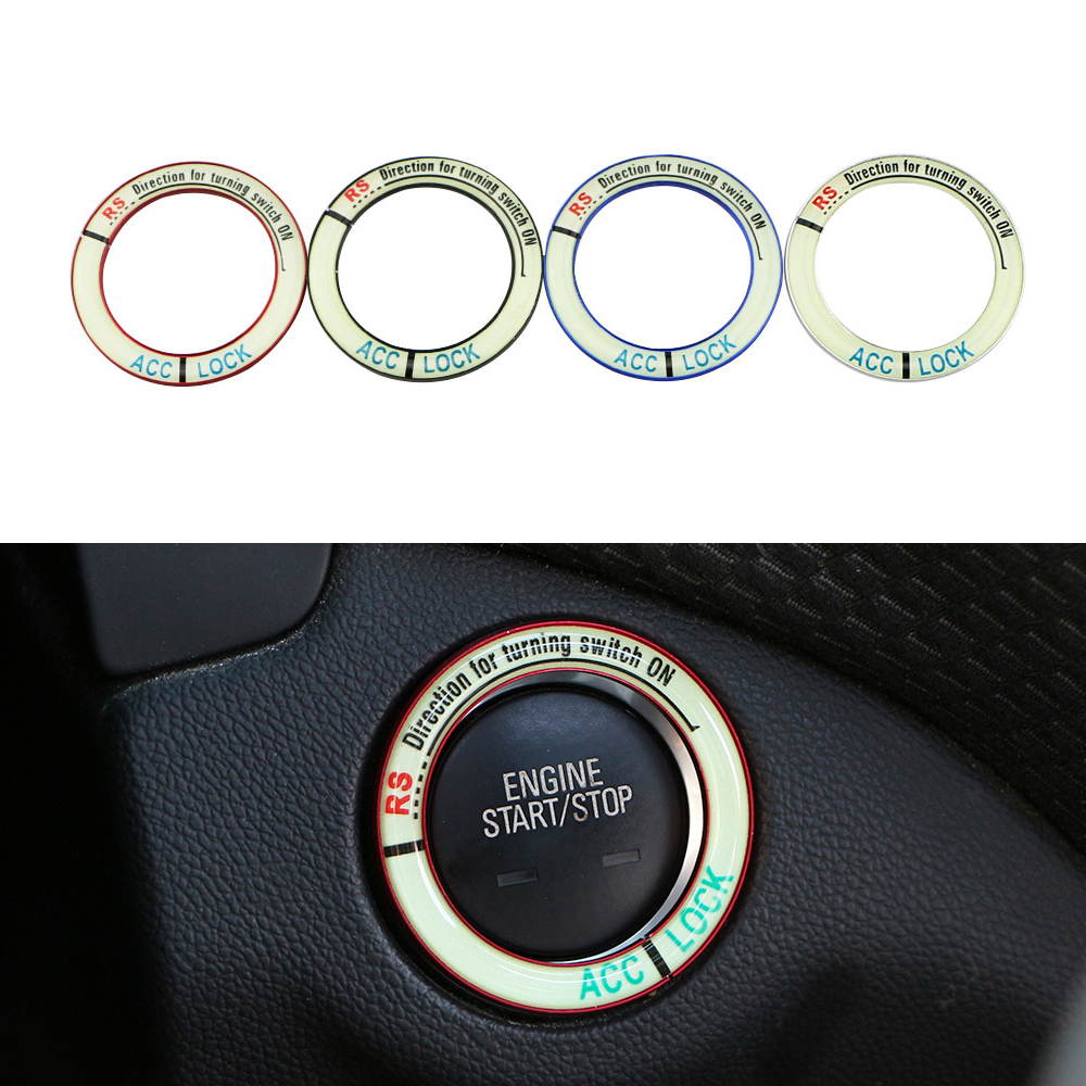 Jameo Auto Car Engine Ignition Key Ring Lumiuous For Suzuki Jimny The Kizashi Grand Vitara SX4 VITARA Works Baleno Celerio Swift