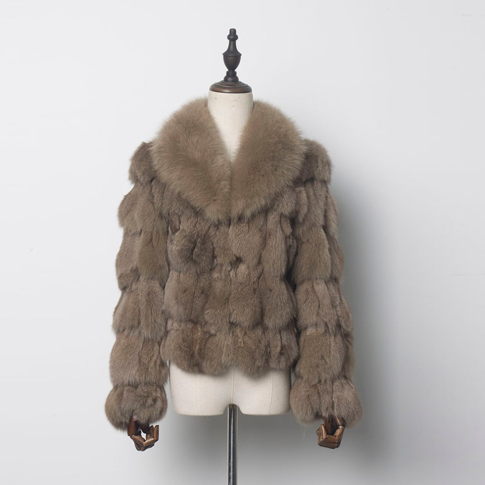 Fur Story 010220N New Women s Real Fox Fur coat for Fashion Design Ladies Luxury High