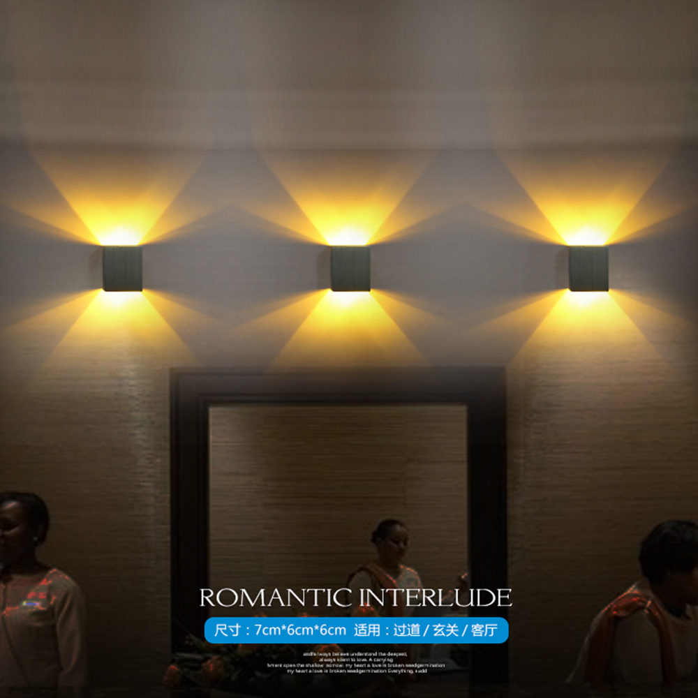 Free Shipping 3pcs/lot Sample Modern Wall Led Light 3W Epistar Chip Led  Spot Light Decoration For Dinning Room/bathroom