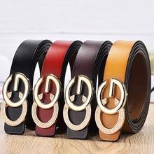 купить Women's buckle double gold buckle jeans wild belt women's fashion dress wild belt simple new round pin buckle belt дешево