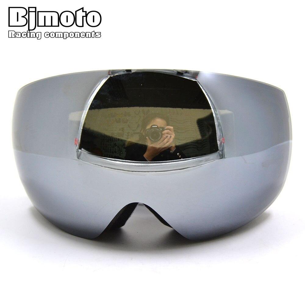 Bjmoto CRG бренд лыжные очки 2 двойные линзы Анти-Туман UV400 большой сферические лыжные Очки Лыжный Спорт Для мужчин Для женщин снег мотоцикл очки