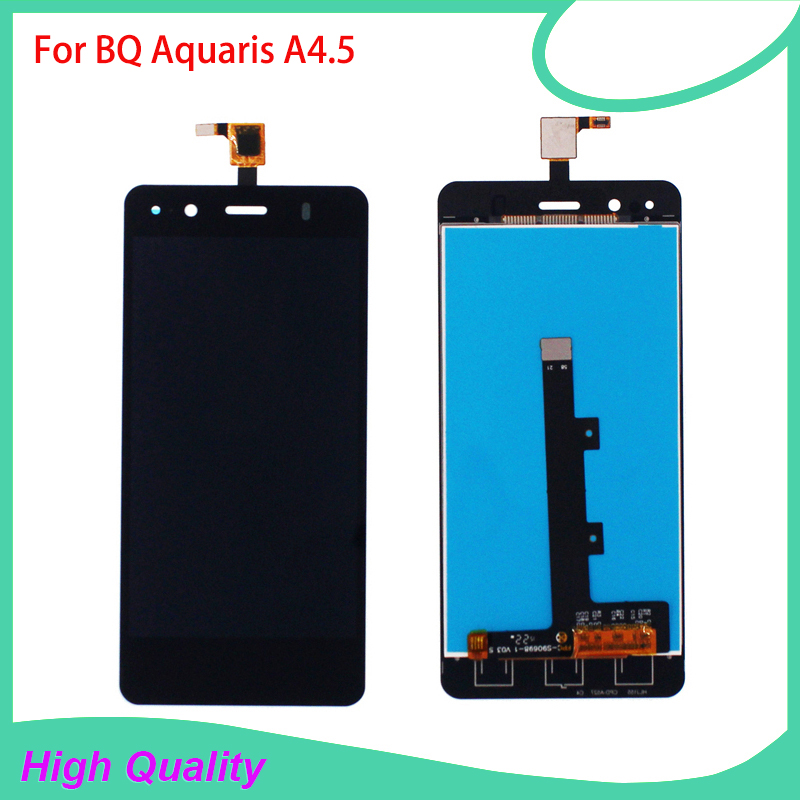 5PC/LOT High Quality LCD Display For BQ Aquaris A4.5 Touch Screen Digitizer Assembly 100% Guarantee Mobile Phone LCDs bort bhd 901
