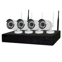 4CH 1080P HD Wireless NVR Kit P2P 720P Indoor Outdoor IR Night Vision Security 1 0MP