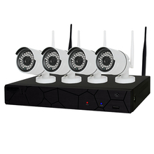 4CH 1080P HD Wireless NVR Kit P2P 720P Indoor Outdoor IR Night Vision Security 1.0MP IP Camera WIFI CCTV System
