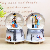 Valentine S Day Gifts Sky City Crystal Ball Creative Gift Resin Music Box Couple Student Child