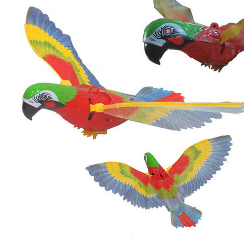 Electric Eagle Can Fly Luminescence Voice Birds Pegasus Hanging Wire Parrot Hanging Wire Eagle Bird Music Children Toys