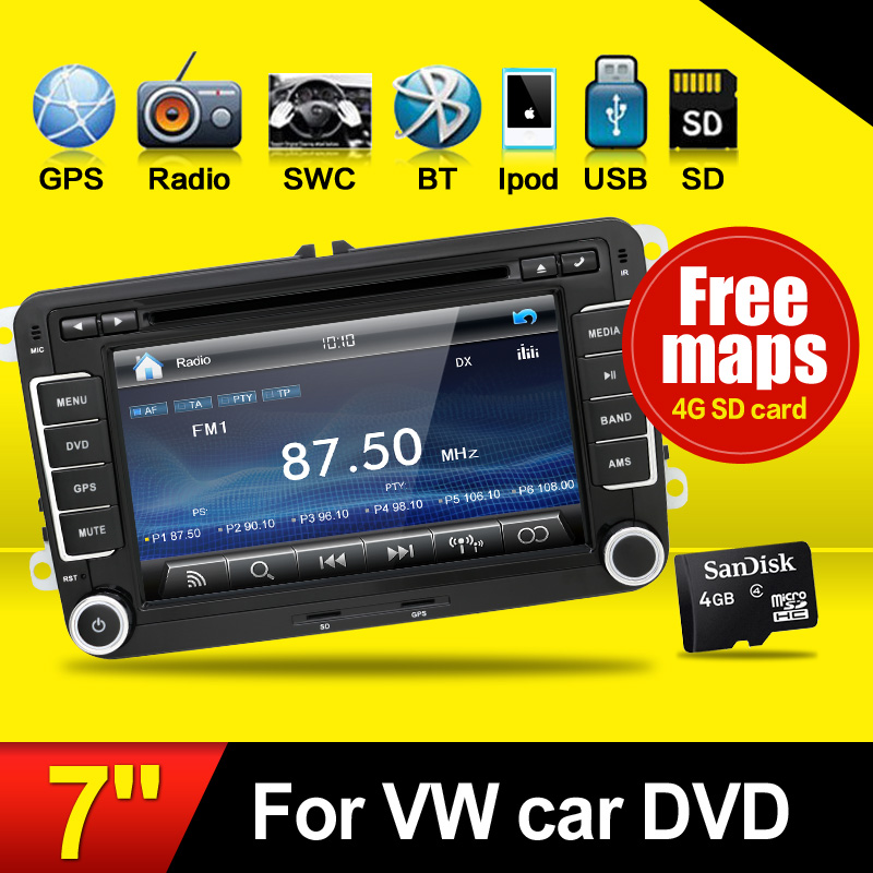 2 Din Car DVD For VW Passat B5 Jetta Golf Bora Polo GPS Car PC Multimedia Navigation HD  ...