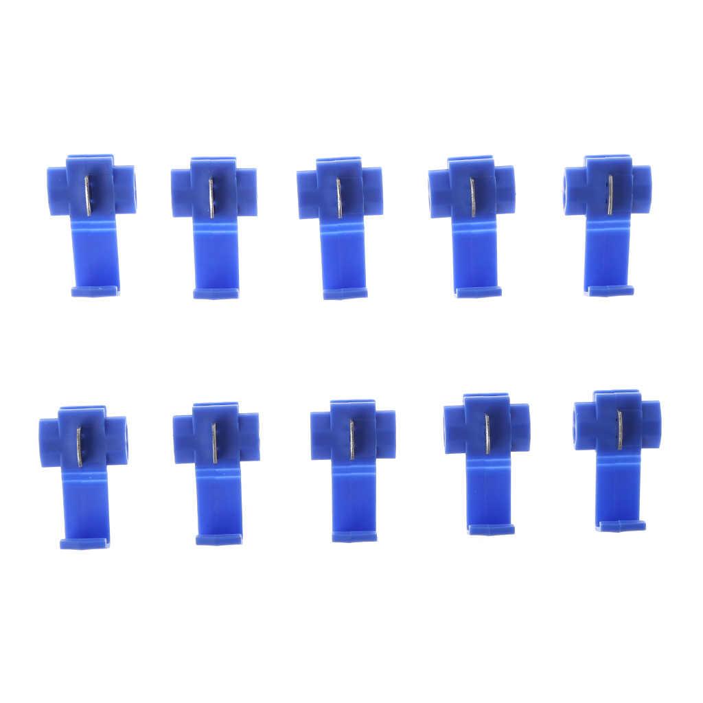 AUTO 10 stks 2 Pin T Vorm Draad Kabel Terminals Crimp Scotch Lock Quick Splice Elektrische Auto Audio Kit Tool