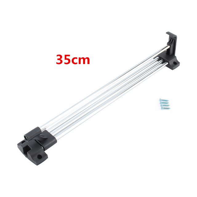 35cm Wardrobe Chrome Pull Out Towel Coat Racks Closet Rod Retractable  Wardrobe Clothes Hanger Rail Home