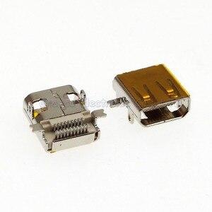 Lot de 100 prises femelles 19P MICRO HDMI Type D avec autocollant SMT + DIP foot