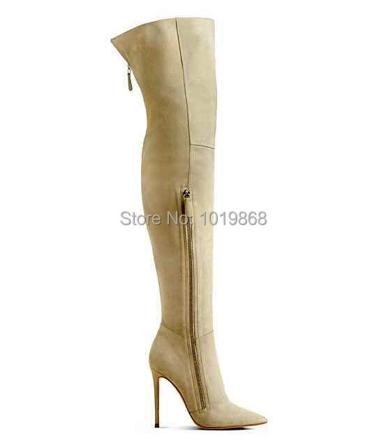 a45188cea96 Jennifer Hudson wearing Black Suede Boots Side Zipper Over The Knee Tight  High Boots Discount Christmas-in Over-the-Knee Boots from Shoes on  Aliexpress.com ...