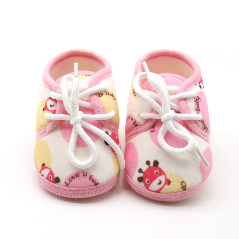 Infantil Newborn Infant Cotton Printed Baby Shoes Autumn Lace-Up Baby Girls First Walkers Baby Kids Prewalker baby girl shoes