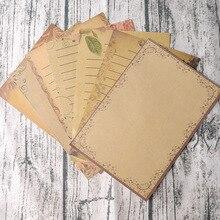 8 листов/набор крафт-блокнот с буквами набор бумаги Романтический Европейский ретро кружевной Тотем Zakka Love для письма эскиз подарок канцелярские принадлежности