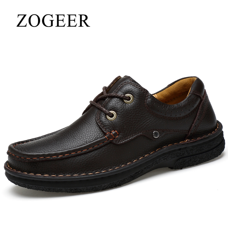 ZOGEER Brand New Men Dress Shoes, Black Mens Leather Shoes Formal Business, Full Grain Leather Lace Up Winter Mens Shoe top quality crocodile grain black oxfords mens dress shoes genuine leather business shoes mens formal wedding shoes