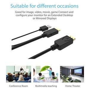 Image 5 - Cáp Chuyển Displayport To Displayport Cáp Nguồn USB HDMI Dp Đực Chuyển Đổi 2 M Cho Macbook Laptop Dell màn Hình HDTV PS3