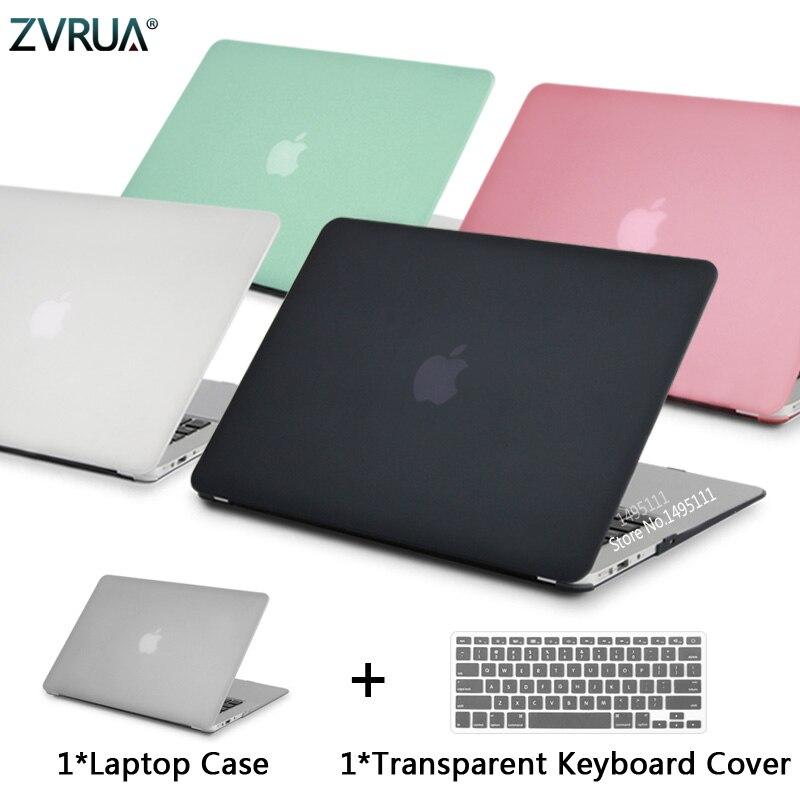 2019 nova matte caso capa manga para macbook air 11 13 polegada a1466 a1932 pro 13 15 retina a1706 a1708 a1989 + teclado capa