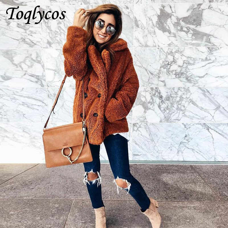 Autumn and winter fashion button lapel coat for women woollen coat   251