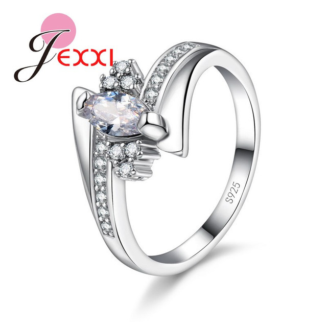 New Arrival Cute Shiny Cubic Zirconia Rings For Women Big Discount 925 Sterling Silver Party Jewelry Gift Free Shipping 3